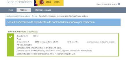 Resoluciones de Concesión de Nacionalidad Española Luis