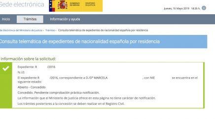 Concesiones de Nacionalidad Española Marcela