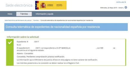 Concesiones de Nacionalidad Española Marcella