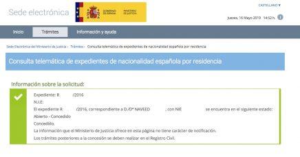 Concesiones de Nacionalidad Española Naveed