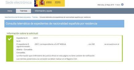 Concesiones de Nacionalidad Española Noelia