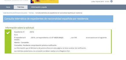 Resolución de Concesión de Nacionalidad Española Abdelmajid