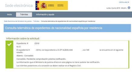 Resoluciones de concesión de nacionalidad española Albdelhak