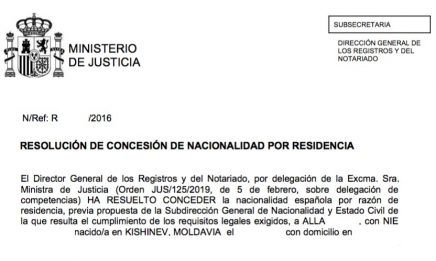 concesión de nacionalidad española Alla