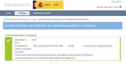 concesión de nacionalidad española Amar