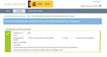 concesión de nacionalidad española Jawad
