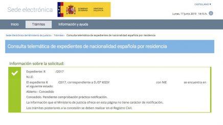 resoluciones de concesión de nacionalidad española KISSY