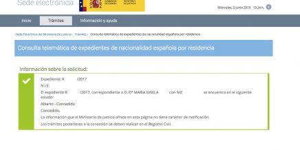 concesión de nacionalidad española Maria Gisela