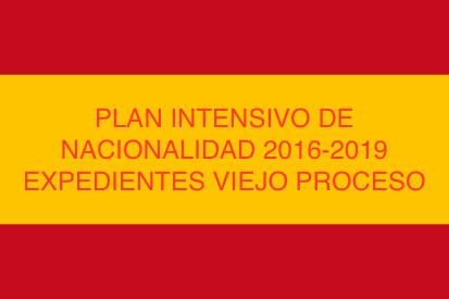 PLAN INTENSIVO DE NACIONALIDAD 2016-2019