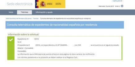 concesión de nacionalidad española Shakeel