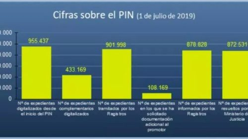 Estado del Plan Intensivo de Nacionalidad. Julio 2019