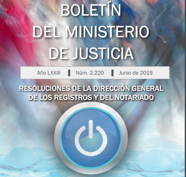 Resoluciones DGRN JUNIO 2019