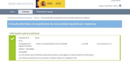 Resoluciones de Concesión de Nacionalidad Española Claudia