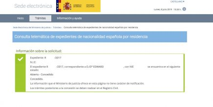 Resoluciones de Concesión de Nacionalidad Española Edward