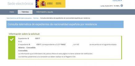 Resoluciones de Concesión de Nacionalidad Española Faiaz