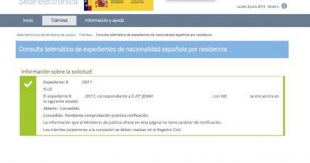 Resoluciones de Concesión de Nacionalidad Española Jenny