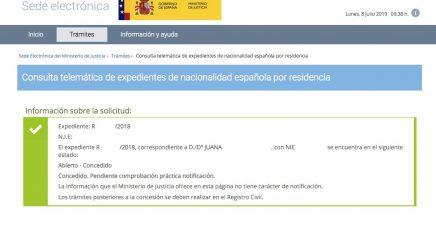 Resoluciones de Concesión de Nacionalidad Española Juana