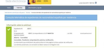 Resoluciones de Concesión de Nacionalidad Española Maritza