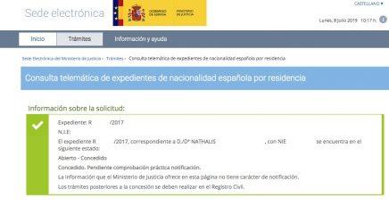 Resoluciones de Concesión de Nacionalidad Española Nathalis