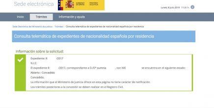 Resoluciones de Concesión de Nacionalidad Española Oumnia