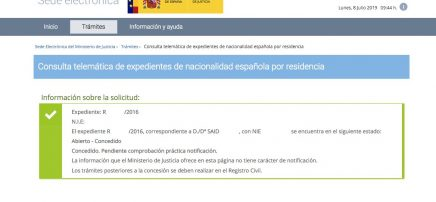 Resoluciones de Concesión de Nacionalidad Española Said