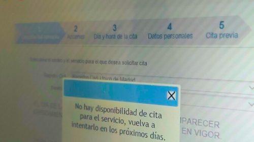 Denuncia: no hay citas disponibles en el Registro Civil Único