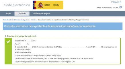 Ana Resolución concesión nacionalidad española
