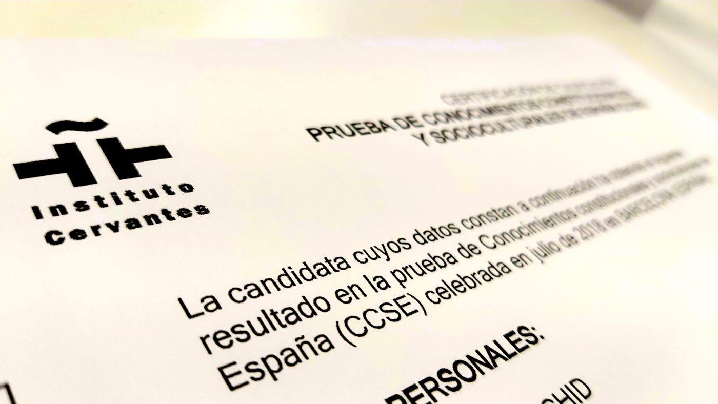 CCSE parainmigrantes