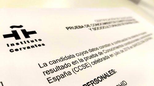 Todas las Convocatorias e Inscripción del CCSE en 2020