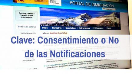 consentimiento o no de notificaciones