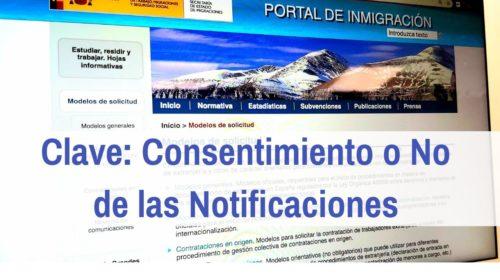 Consentimiento o No de las Notificaciones por vía telemática