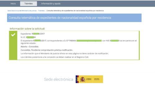 Resoluciones de Concesión de Nacionalidad Española: 29 Agosto 2019