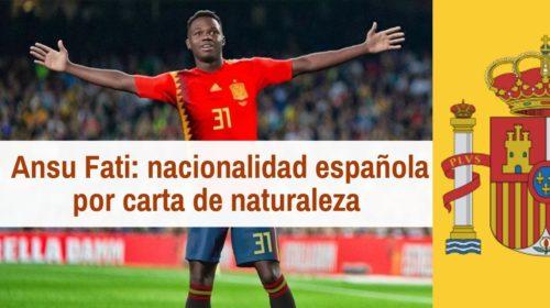 Ansu Fati: el «chico de oro» ya tiene nacionalidad española