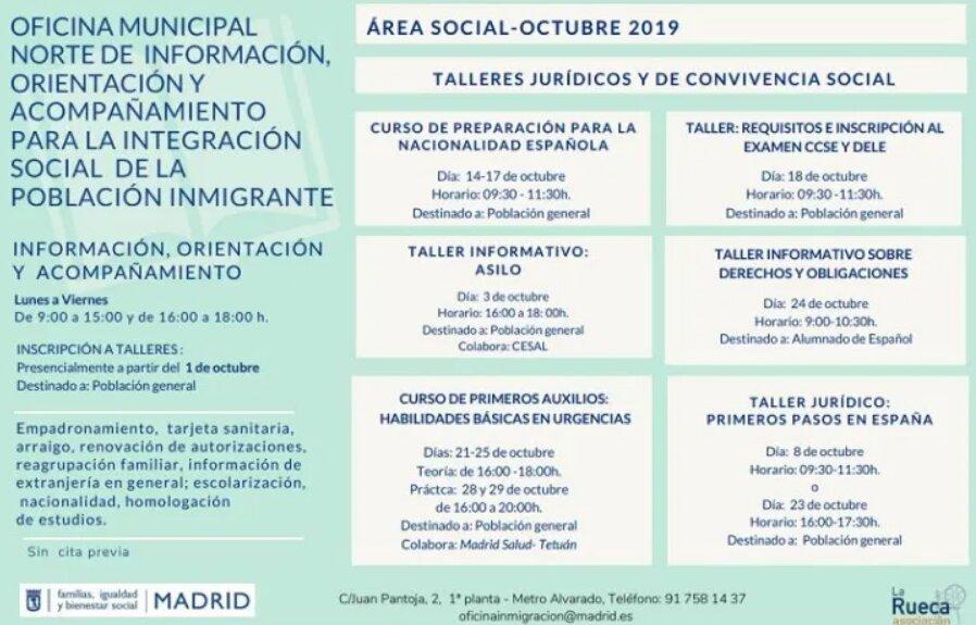 Cursos y Talleres Gratuitos para la Integración de la Población Inmigrante
