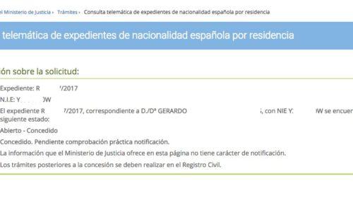 Resoluciones de Concesión de Nacionalidad Española: 6 Septiembre 2019