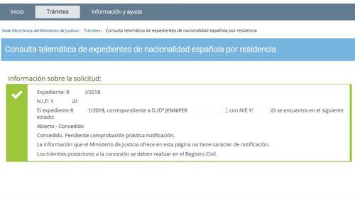 Resoluciones de Concesión de Nacionalidad Española: 24 Septiembre 2019
