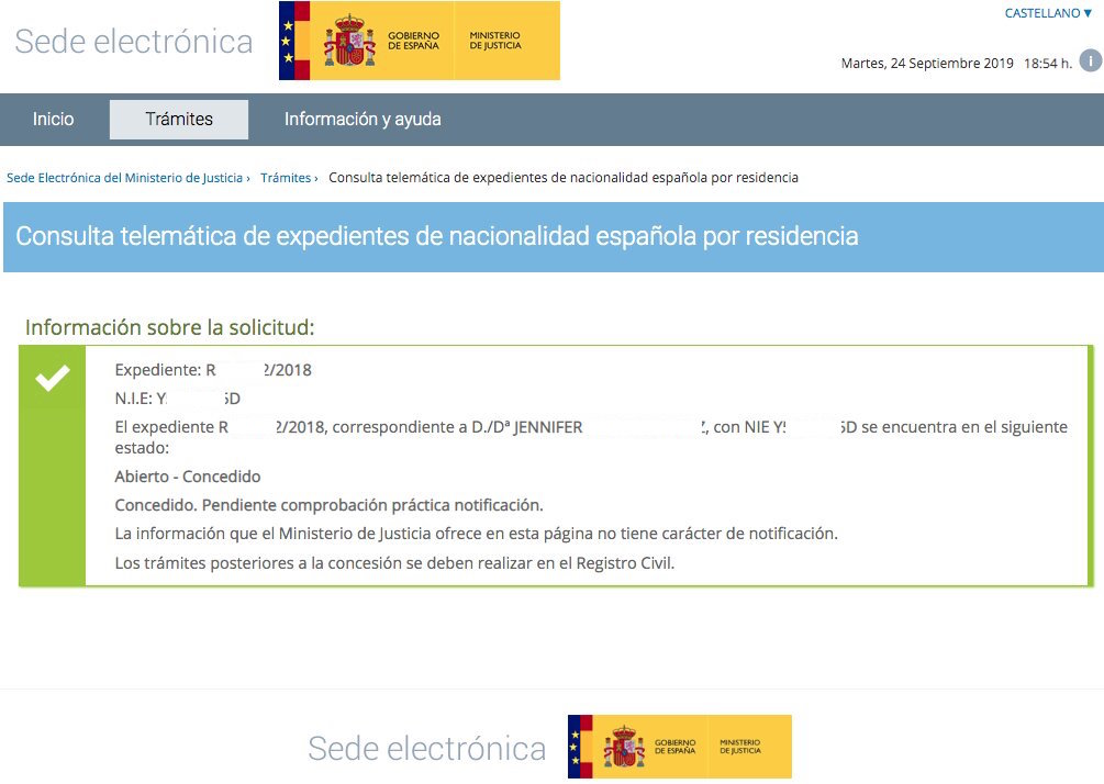 Jennifer concesión de nacionalidad española