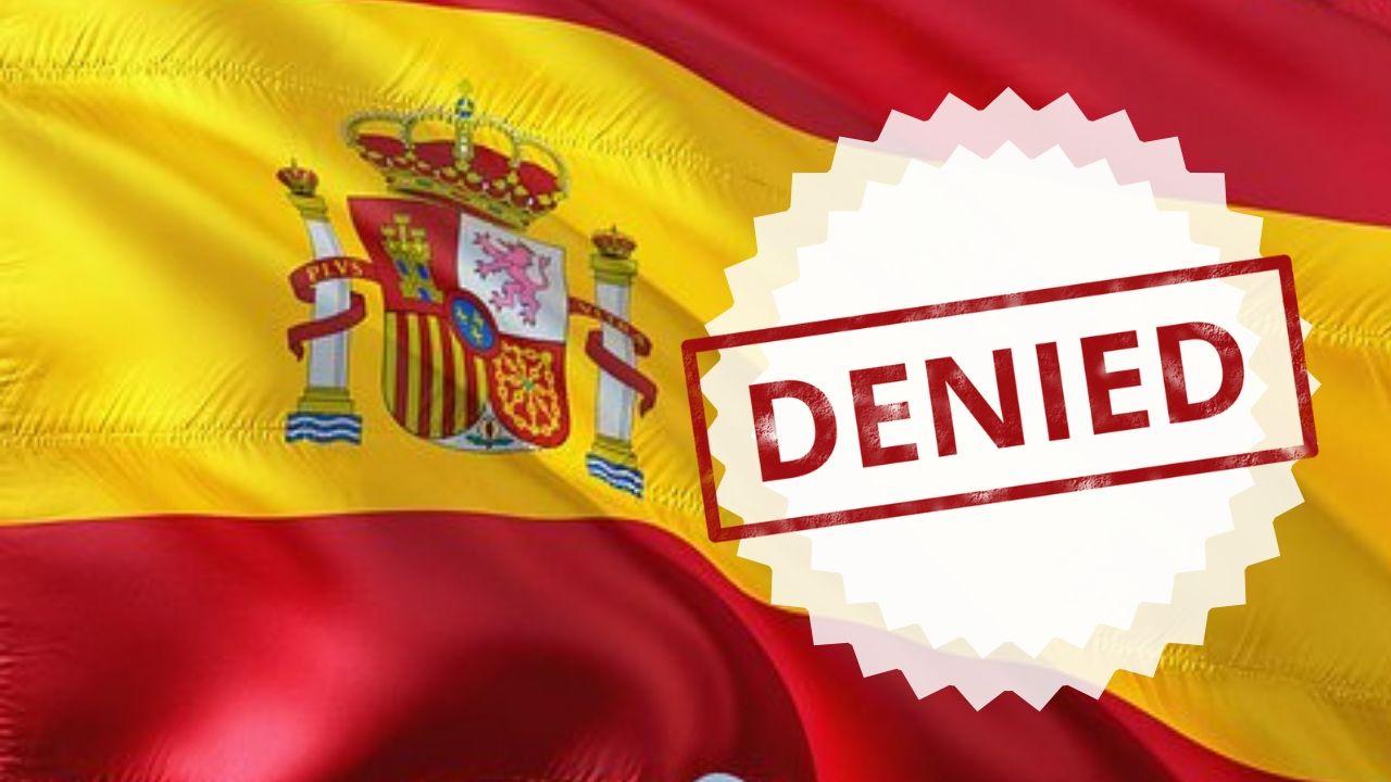 Nacionalidad española denegada