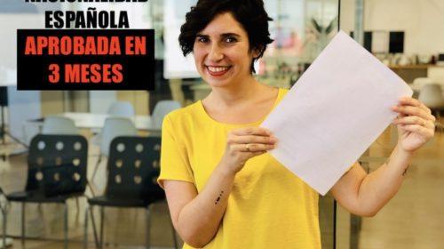 Nacionalidad Española del año 2019 concedida