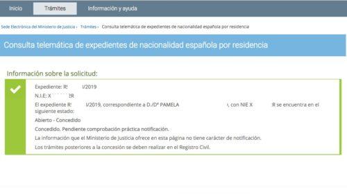 Resoluciones de Concesión de Nacionalidad Española: 18 Septiembre 2019
