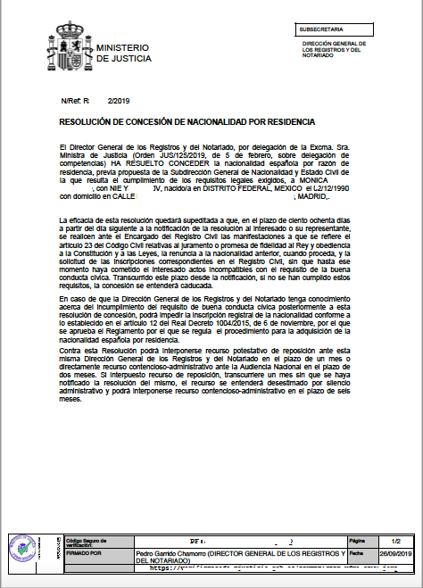 monica-26-días-resolución-de-concesión-de-nacionalidad-española