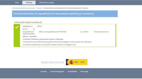 Resoluciones de Concesión de Nacionalidad Española: 26 Septiembre 2019
