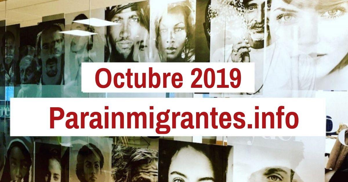 Noticias Destacadas de Parainmigrantes.info Octubre 2019