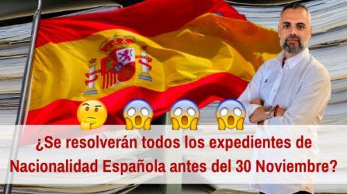 Plan de Choque expedientes de nacionalidad española antes del 30 noviembre