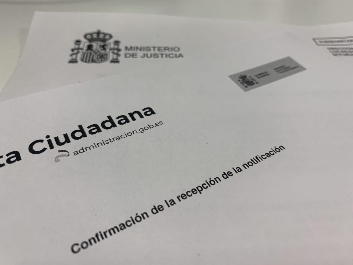 Problemas notificación de la resolución de concesión de nacionalidad española