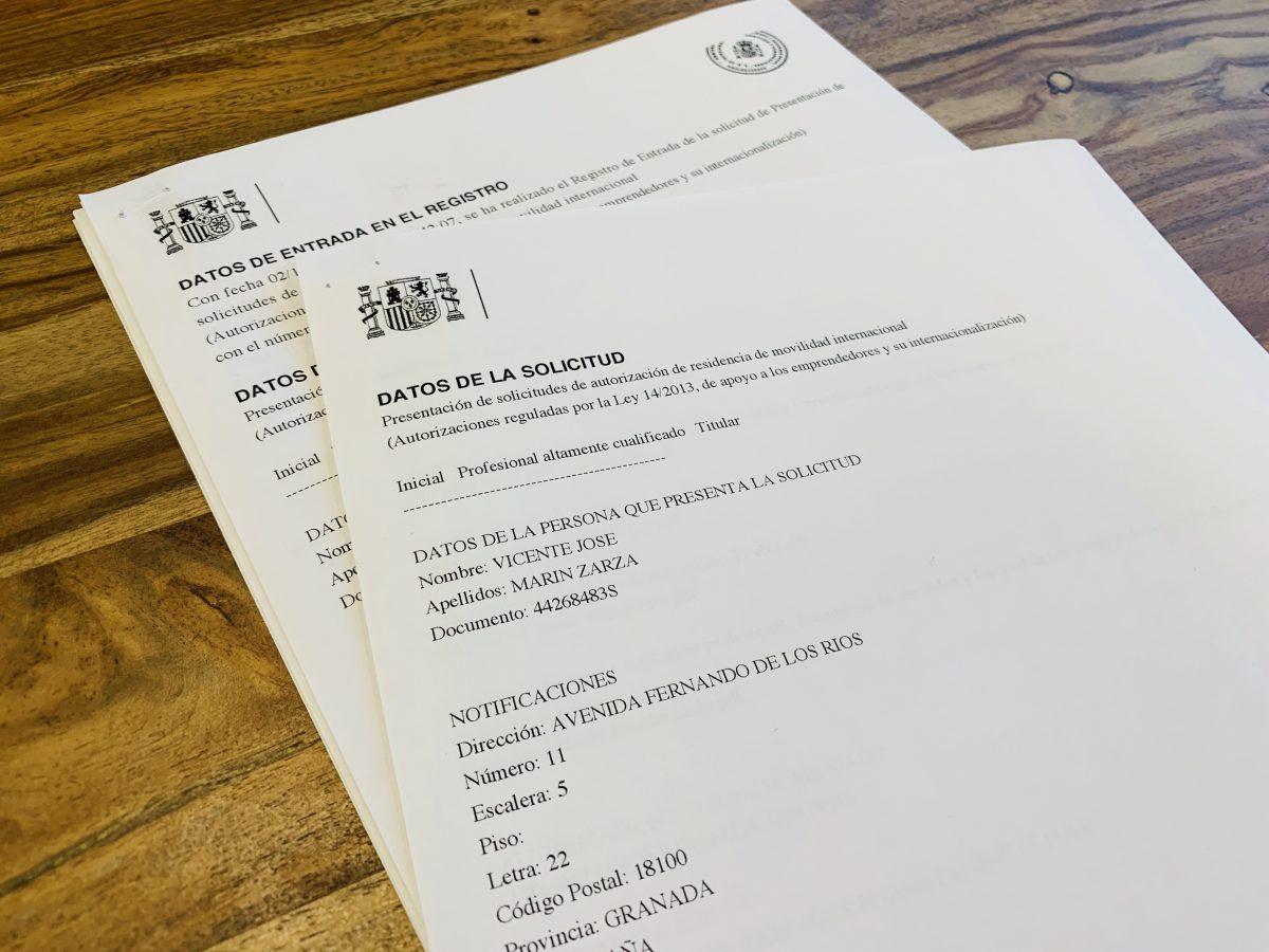 resguardo solicitud autorización ley de emprendedores