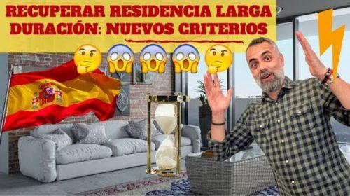 Recuperación Residencia de Larga Duración: Nuevos criterios