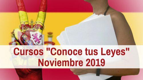 Cursos «Conoce tus Leyes» – Noviembre 2019