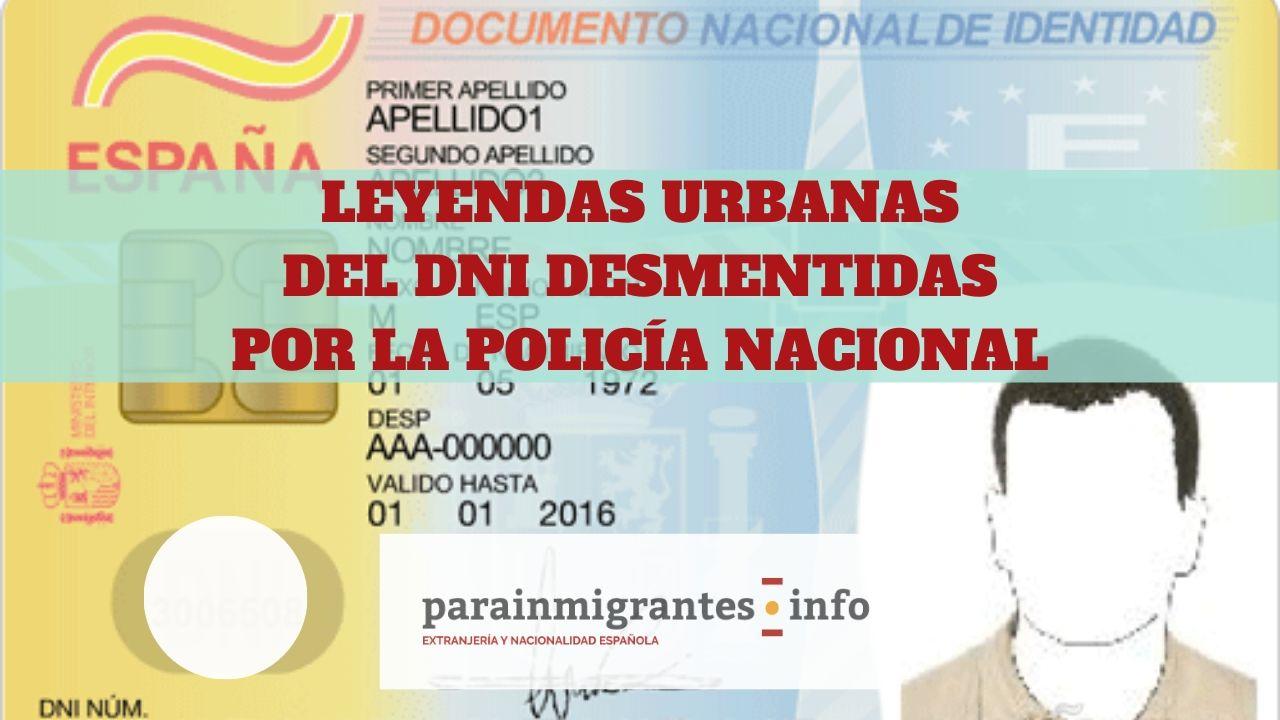 Leyendas urbanas del DNI desmentidas por la Policía Nacional