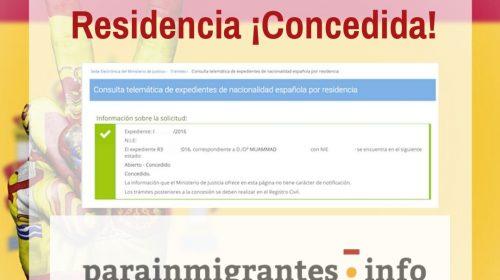 Resoluciones de concesión de Nacionalidad Española: 18 de Noviembre de 2019